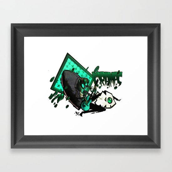 HUMAN FLY 2 Framed Art Print