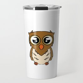 Are You 21 Years of Age? Here's A Cute Shirt With An Illustration Of An Owl Saying Look Whoo's 21? Travel Mug