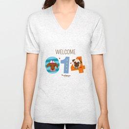 Welcome 014 Unisex V-Neck