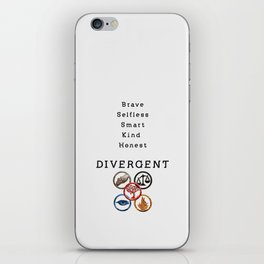 DIVERGENT - ALL FACTIONS iPhone Skin