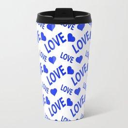 Love Heart Blue Travel Mug