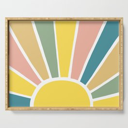 Retro Sun Ray Burst Serving Tray