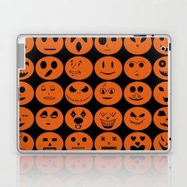 Jack O'Lantern emojis Laptop & iPad Skin
