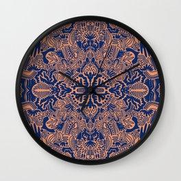 Blue ball of shapes Wall Clock