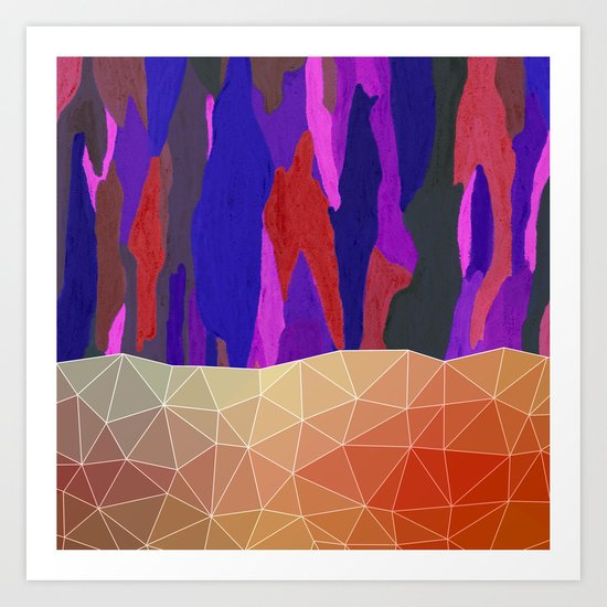Abstract Colorful Pastel look Design Art Print