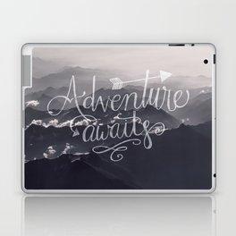 Adventure awaits Typography Gorgeous Mountain View Laptop & iPad Skin