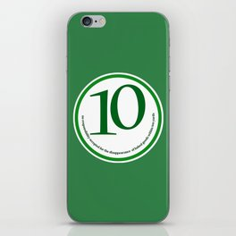 Baked (green-yards) iPhone Skin