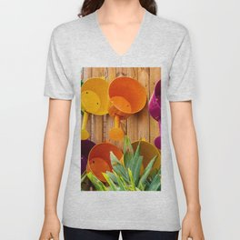 Colorful Watering Cans Unisex V-Neck