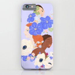 Flower Ladies iPhone Case