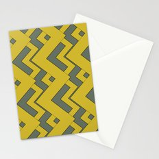 zig zag mustard Stationery Cards