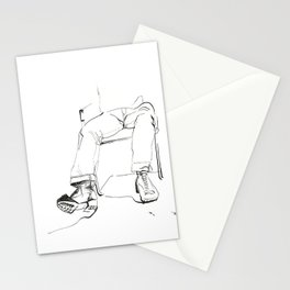 Dirty Black Boot Stationery Cards