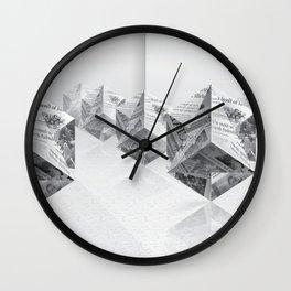 News Cubes Wall Clock