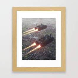 Flying Districts Framed Art Print