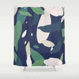 Pattern Abstrait Formes Colors Tropical Shower Curtain