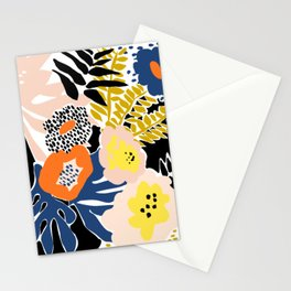 More design for a happy life - with black Stationery Cards