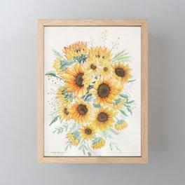 Loose Watercolor Sunflowers Framed Mini Art Print