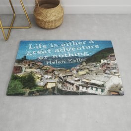 """""""Life is a Great Adventure."""" Rug"""