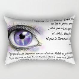 Ojo galaxia - Isaías 45, 3 Rectangular Pillow