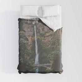 Majestic Multnomah Falls Duvet Cover