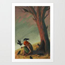 The Seven Ravens Art Print