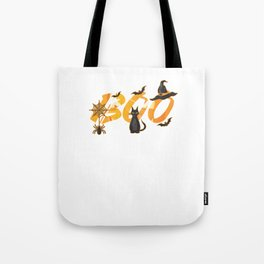 Hallows Eve Gift Boo Trick Or Treat Black Cats Witch Halloween Tote Bag