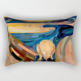 Curves - O Grito Rectangular Pillow