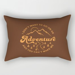 I Don't Want To Go (Brown) Rectangular Pillow