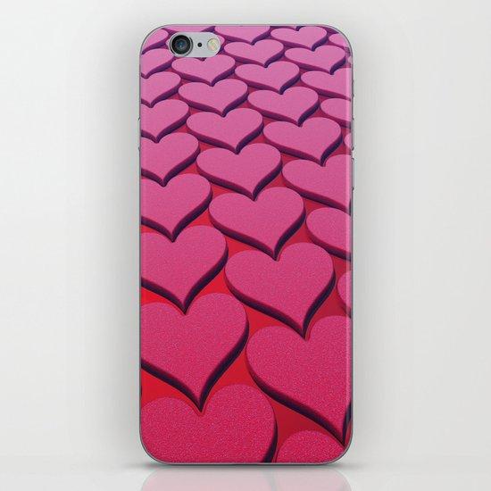 Textured 3D Heart Pattern iPhone & iPod Skin