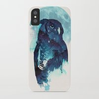 belle iPhone & iPod Cases featuring Midnight Owl by Robert Farkas