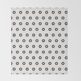 Tiles of Penang - Black and white Throw Blanket