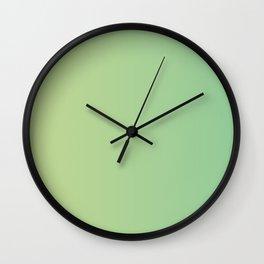 Light Green Gradient Wall Clock