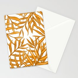 Palm Fronds in Orange Mk1 Stationery Cards