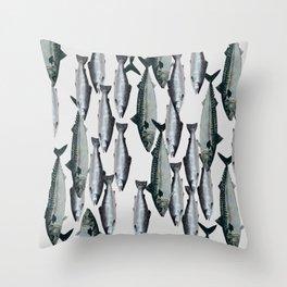 Tuna and Salmon Fish Design Throw Pillow