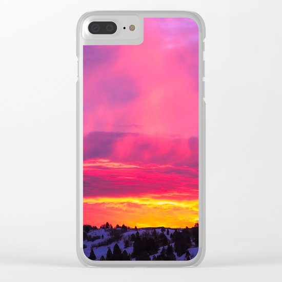 Sunset over the Artic Clear iPhone Case
