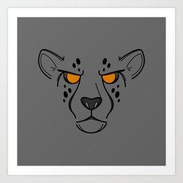 RUN: Cheetah Monster Run Gear Variant Art Print