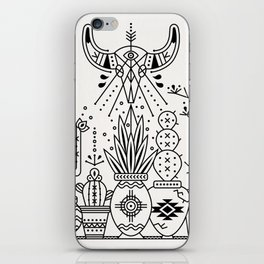 Santa Fe Garden – Black Ink iPhone Skin
