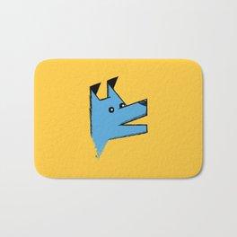 Blue Origami Dog Bath Mat