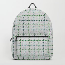Abernathy, Blue Stone on Forest Green Tattersal Backpack