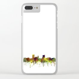 Fort Wayne, Indiana Skyline SG - Safari Buff Clear iPhone Case