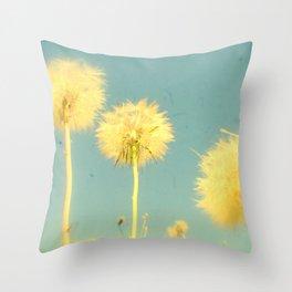 Summer Dandelions #2 Throw Pillow