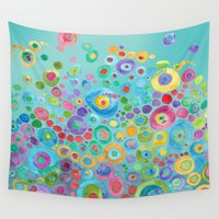 under the sea Wall Tapestries featuring Under the Sea Circles by Catherine Holcombe