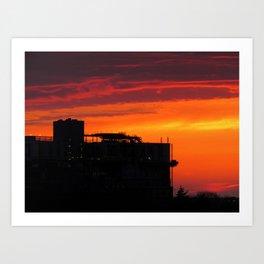 Phoebe's Sunset (2) Art Print