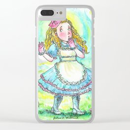 Alice's Adventures In Wonderland Clear iPhone Case