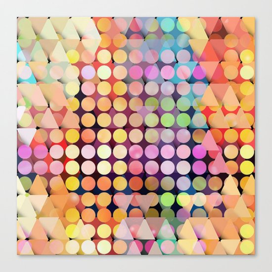 Geometric Party Canvas Print
