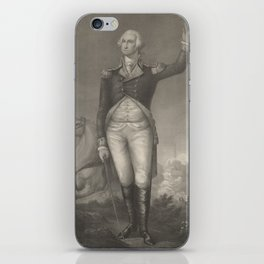 Vintage George Washington Portrait (1854) iPhone Skin