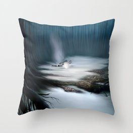 Swamps of Dagobah Throw Pillow