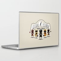 power rangers Laptop & iPad Skins featuring Brewer Rangers by le.duc