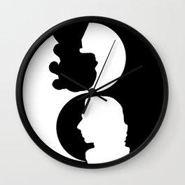 reylo yin yang Wall Clock