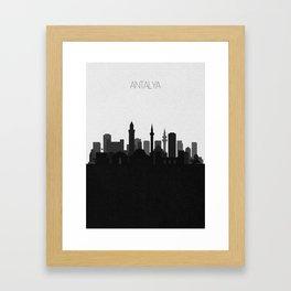 City Skylines: Antalya Framed Art Print