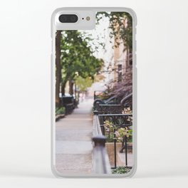 Walking through Chicago Clear iPhone Case